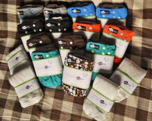Cloth diapering with funky fluff