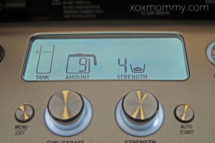 Breville Grind Control on digital display