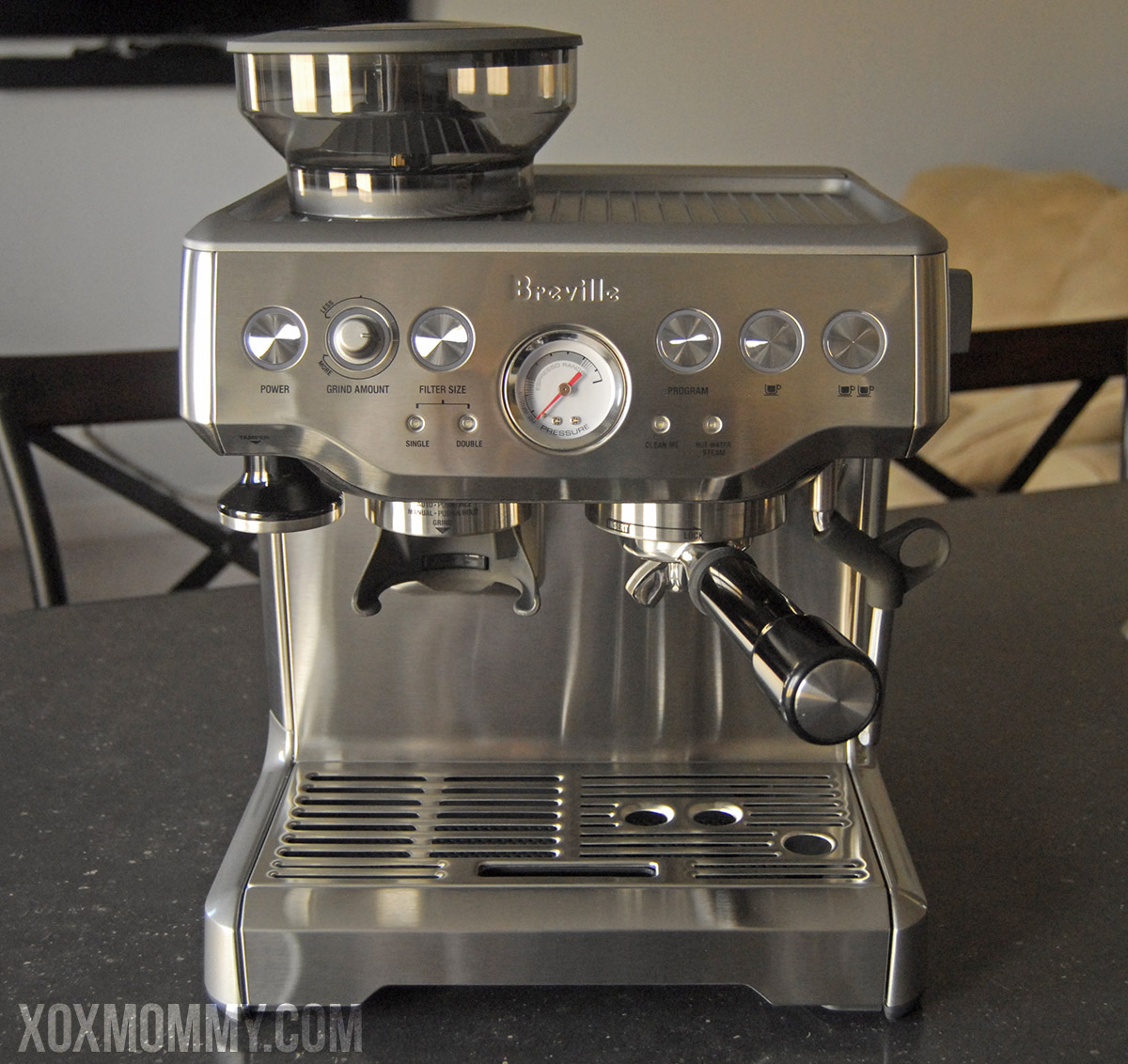 breville barista express front