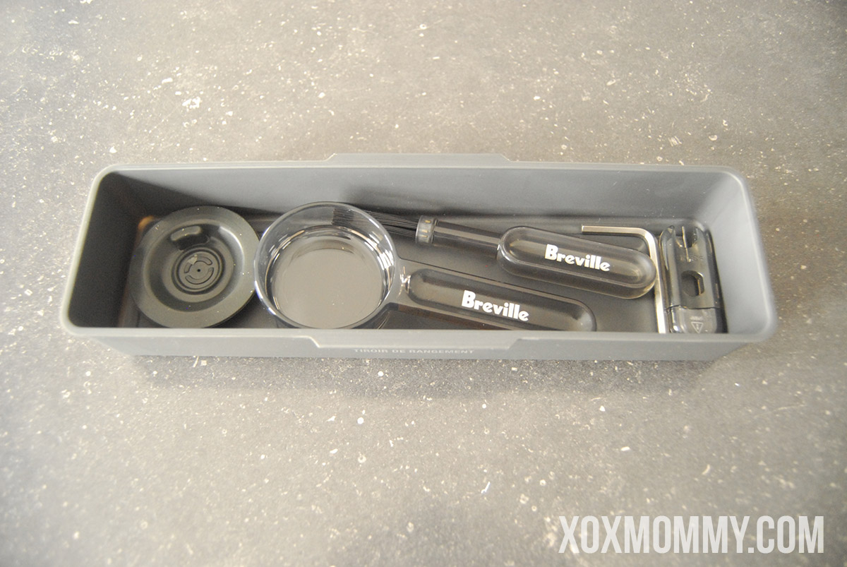 breville barista express tool storage full