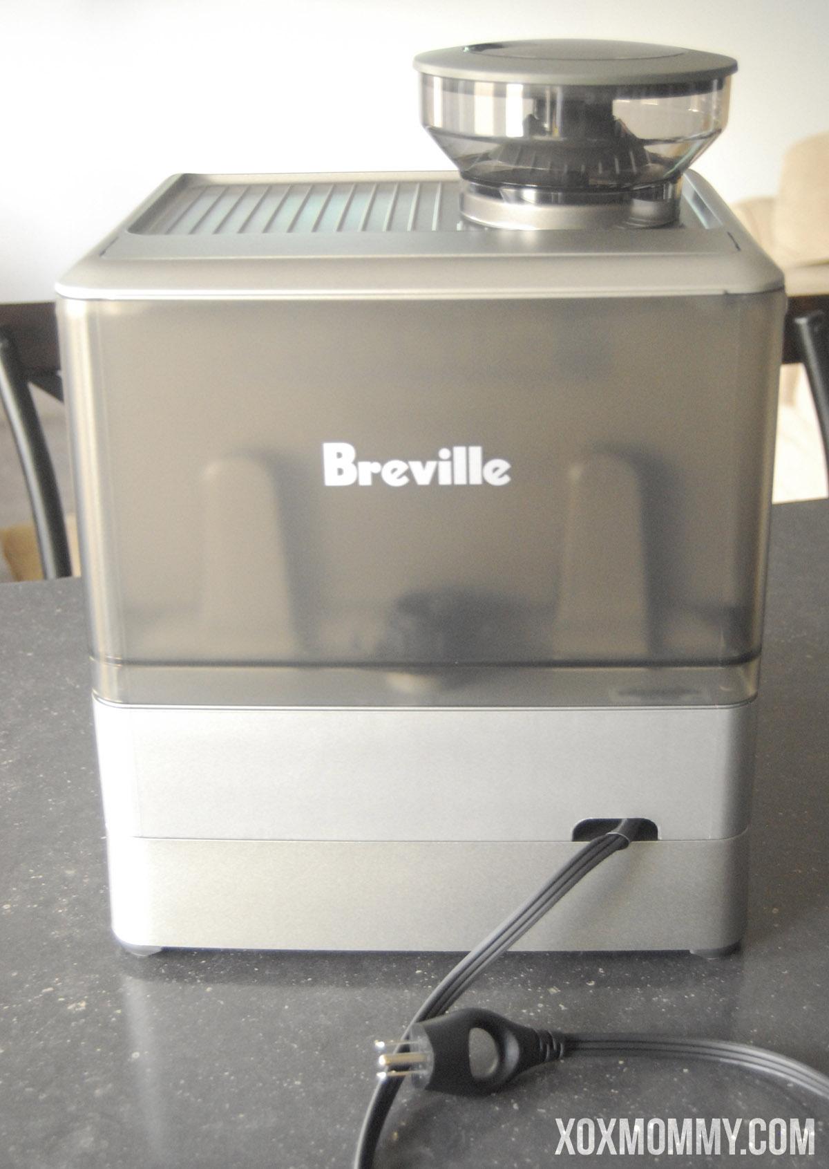 breville barista express water tank back