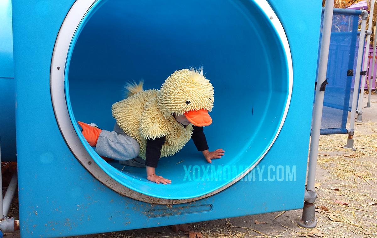 toddler duck costume halloween tube maze