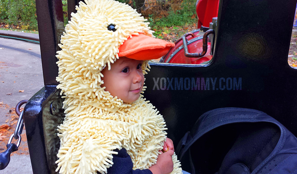 toddler halloween duck costume train