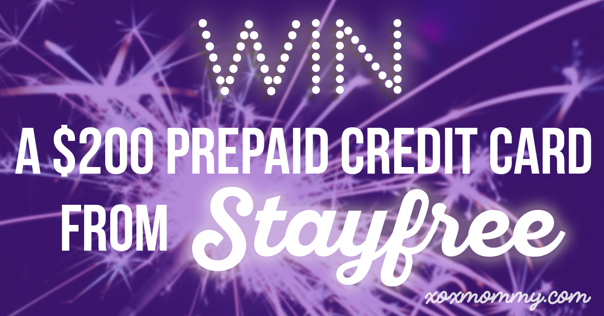 Win a $200 Prepaid Credit Card from Stayfree!