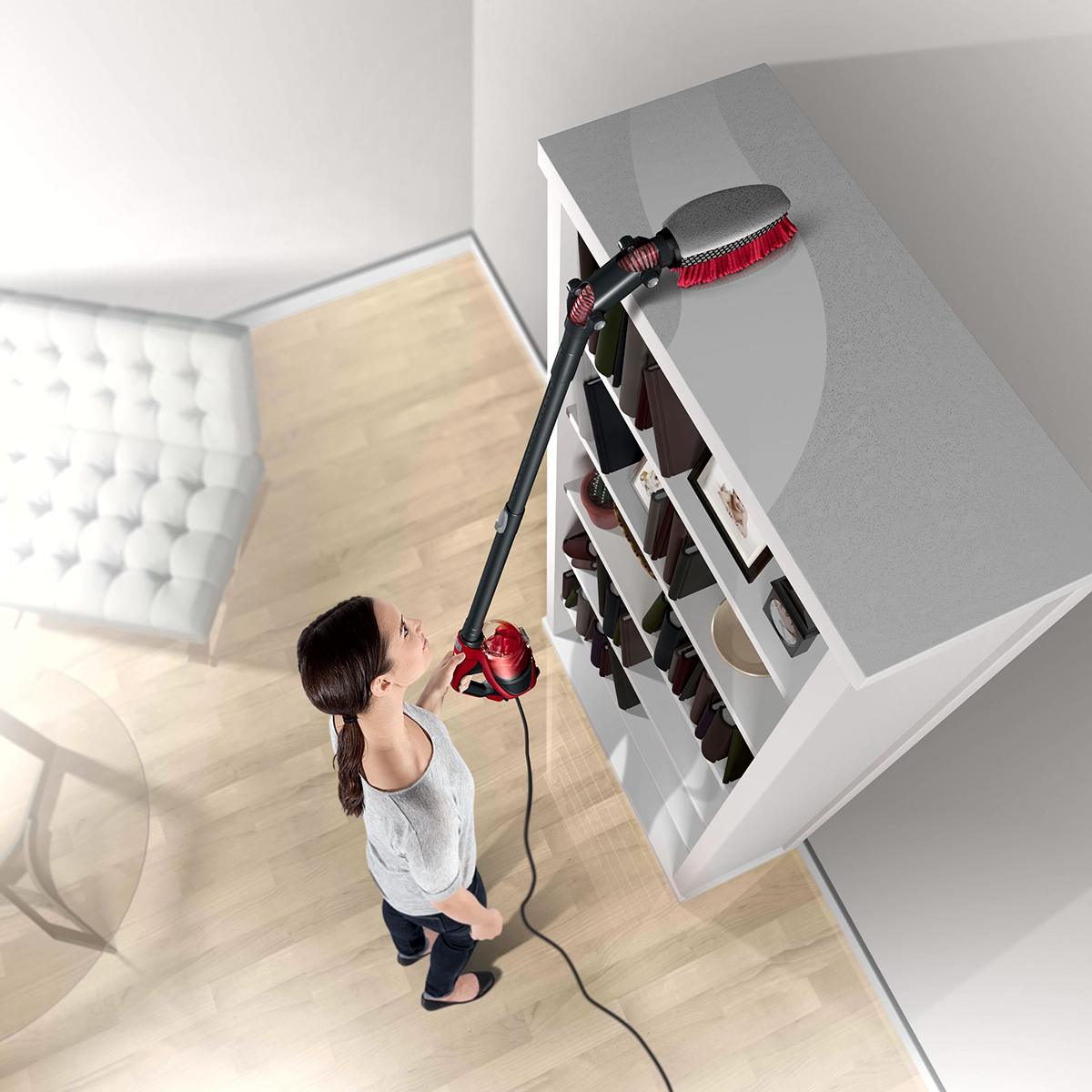 Dirt Devil 360 Reach bookshelf