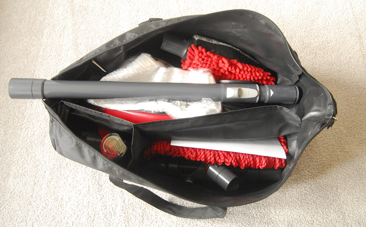 dirt devil 360 reach duffel bag interior