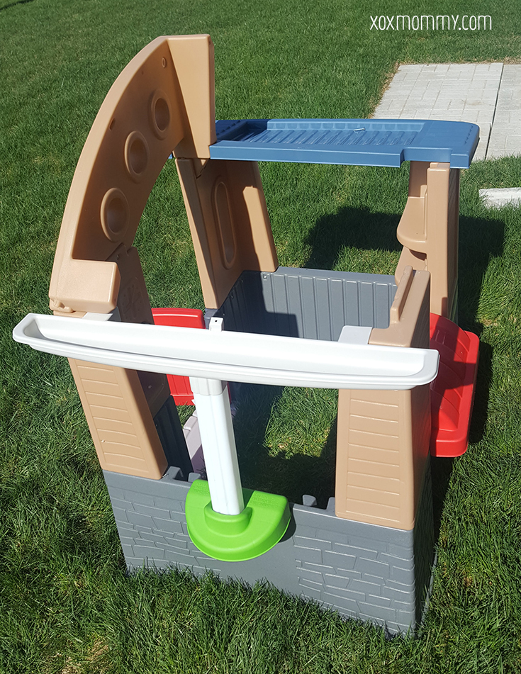 little tikes go green playhouse build side gutter