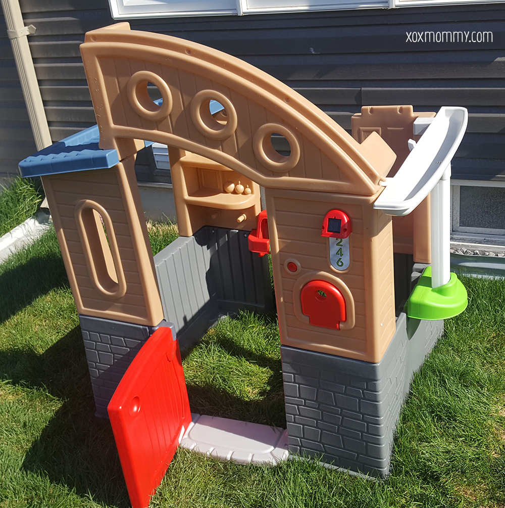 little tikes go green playhouse build solar light
