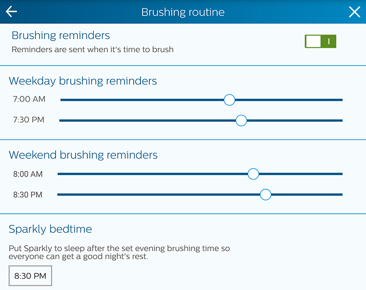 philips sonicare brushing schedule